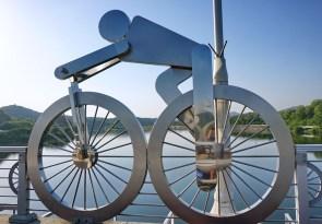 On the Four Rivers Cycle Route, Gyeongcheongyo Bridge near the bicycle museum, Sangju, Gyeongsangbuk-do