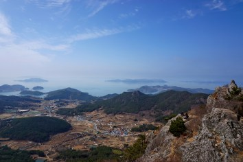 View from Mireuksan, Tongyeong, about an hour and a half by bus from Masan.