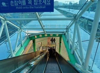 Masan Station - every Friday night and Monday morning.