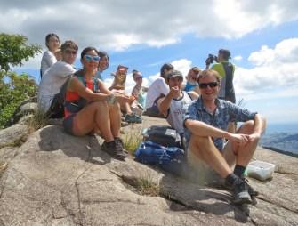 Sangyebong with Matt, Hyon Shim & Emily of Busan hiking club.