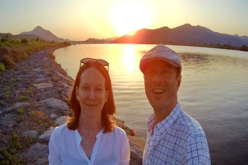 With Margaret at the Nakdong River