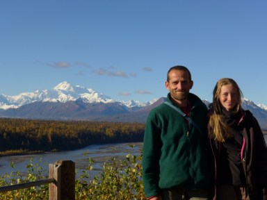 In front of Denali, Alaska