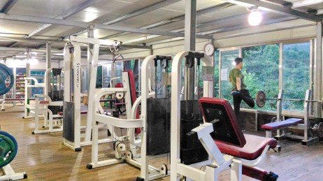 My local free gym. This was on the hillside about 25 minutes run through the woods from my apartment. Free gyms & exercise equipment are available around towns and in the hills of South Korea, but this was one of the best I saw anywhere. Open 24/7.