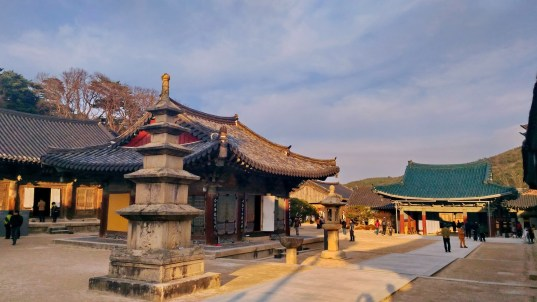 Tongdosa Temple, between Busan and Ulsan. Widely regarded as South Korea's most beautiful and interesting temple - it is pretty special, but busy with visitors at the weekends.