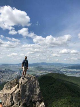 On Sangyebong, above Busan.
