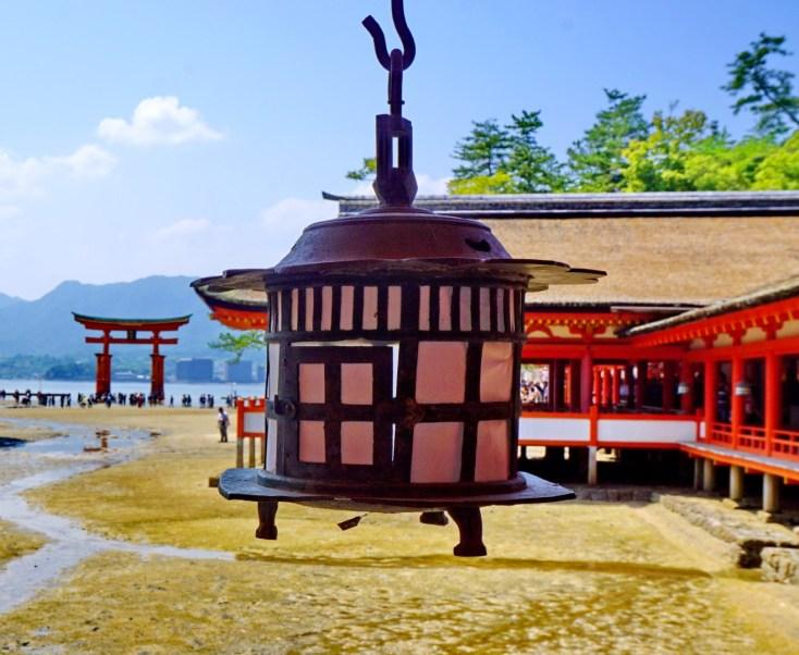 Looking out towards Hiroshima from Itsukushima sea shrine