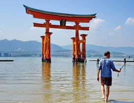 The Great Torii, a.k.a. the Floating Torii Gate of Itsukushima sea shrine, Miyajima