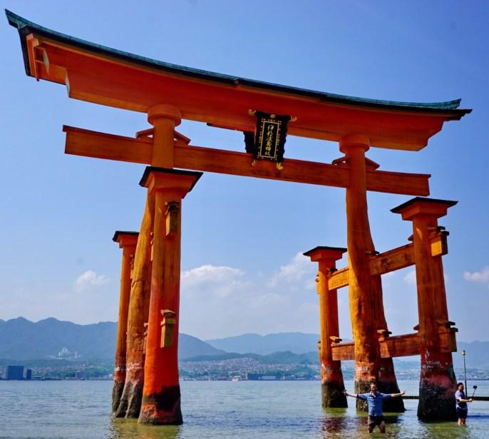 The Great Torii Gate of Itsukushima sea shrine,