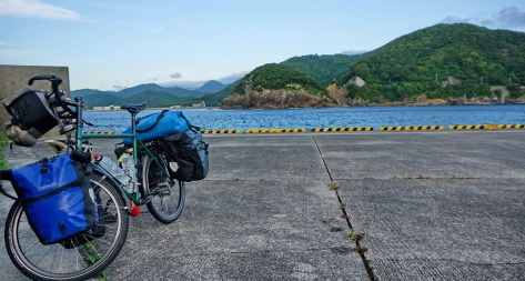 """""""Any port in a storm?"""", er, no. Perhaps this was one time I should have used the official campground. In Ebisuhama, Shikoku.h"""
