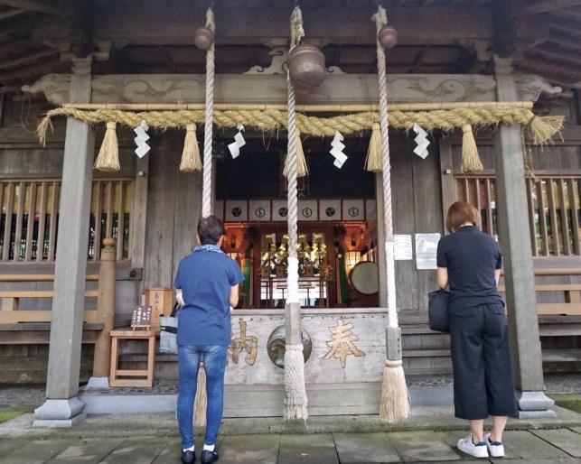 Inside a temple near Kakegawa