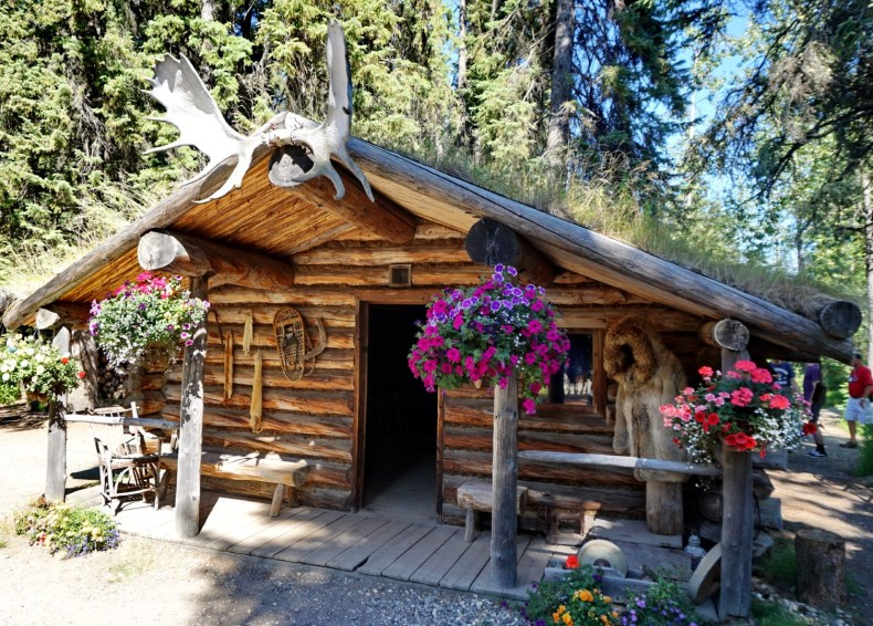 Trapper's cabin in the Athabascan village