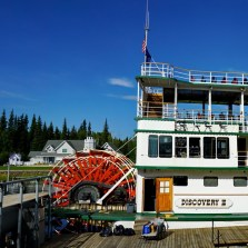 The business end of the riverboat. Incredibly, this enormous 900 passenger vessel has a draft of only 3 feet.