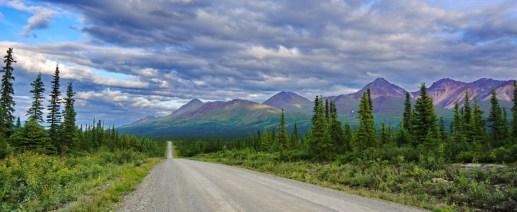 Heading onto the Denali Highway.