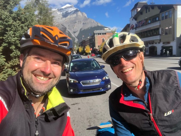 With Steve at the start of the Great Divide ride