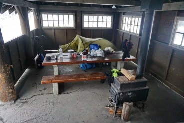 The camping shelter that saved my skin, at Mosquito Creek