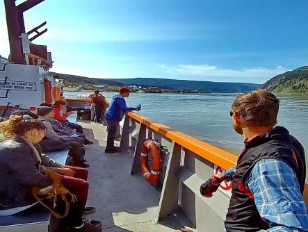 Tuques ahoy! Crossing the Yukon River to Dawson City