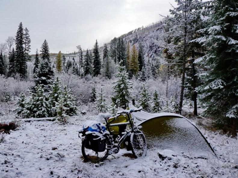 Camp at Goldcreek Road, Montana