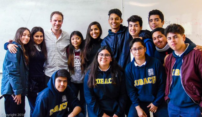 With Adriana's students in Ensenada