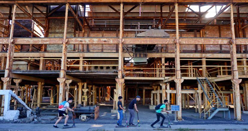 Derelict factory in Santa Rosalía