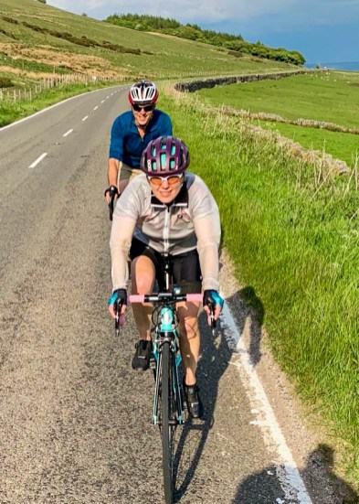 Clinging onto Alice's wheel on the final 20 miles of a 90 mile hilly epic. Photo: K.Anderson