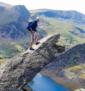 On the Canon, Tryfan, North Wales. Photo: S.Senior