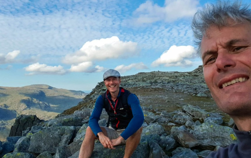 Hiking in Snowdonia, North Wales with partner in adventure, Steve Senior. Photo: S.Senior