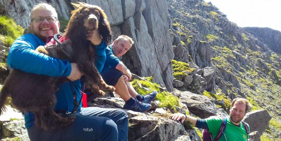 Descending Glyder Fach with Matt and Nick. Photo: S.Higgins