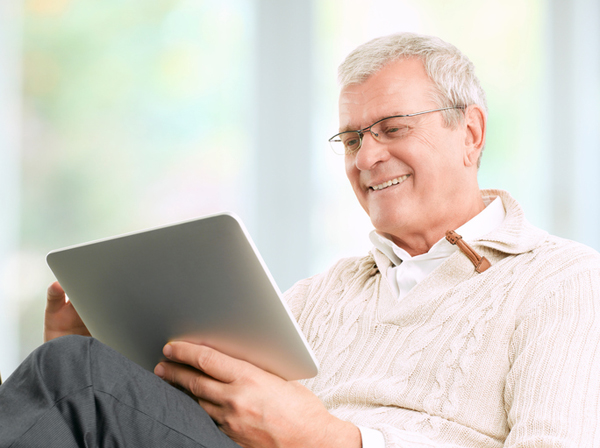 Senior Businessman Working At Home