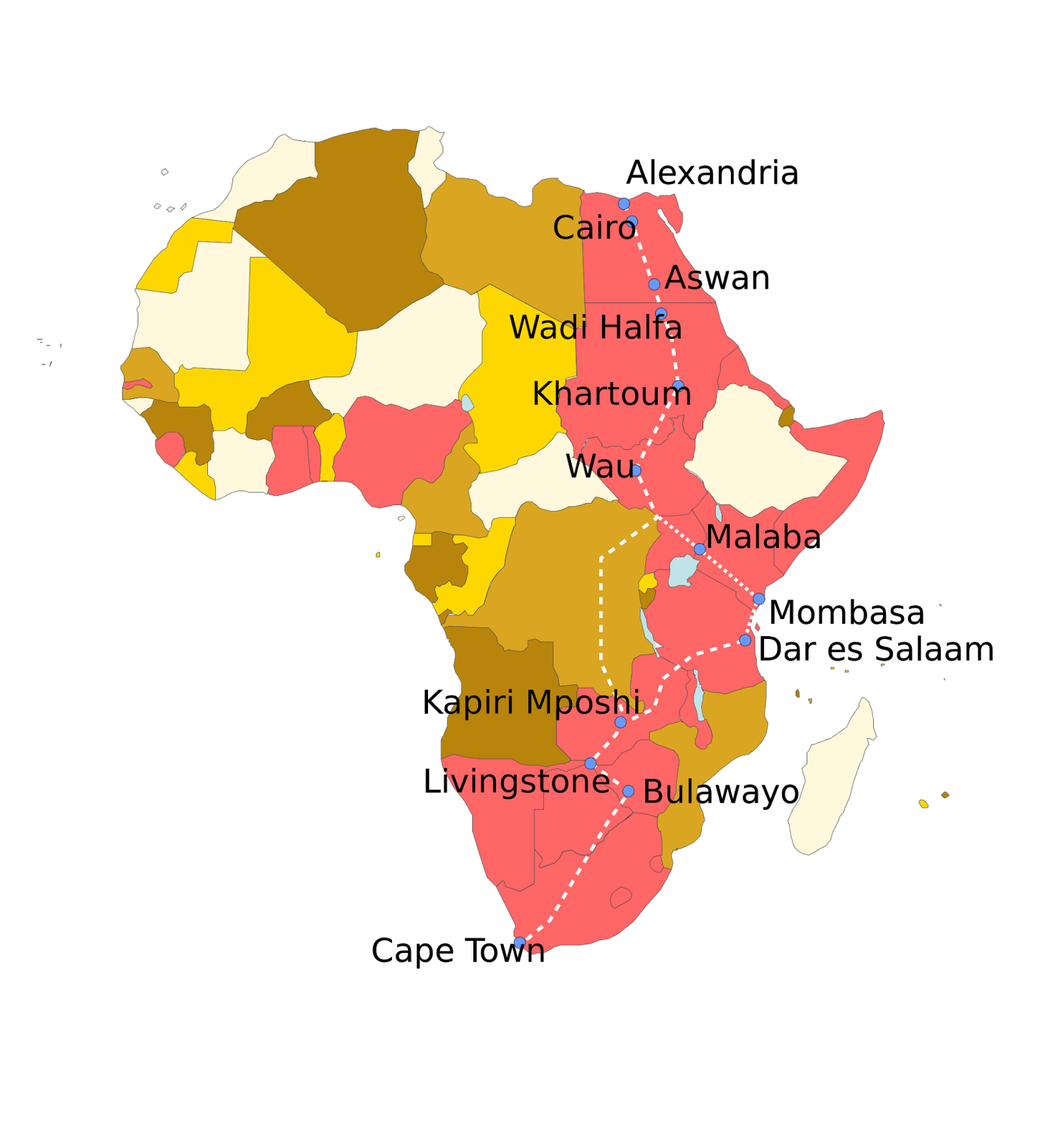 Imperialism and colonisation scramble for africa history and cape to cairo railway gumiabroncs Choice Image