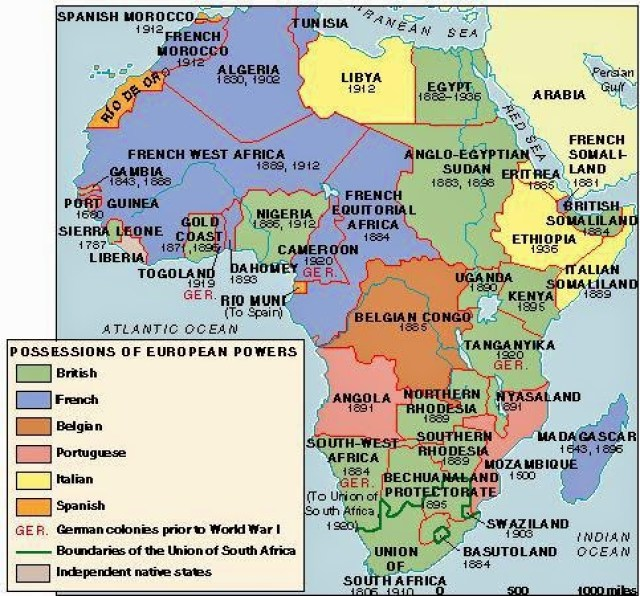 An overview of the conquest of africa and asia by the europeans in the late 19th century