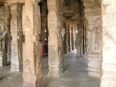 Pillered Hall Lepakshi temple