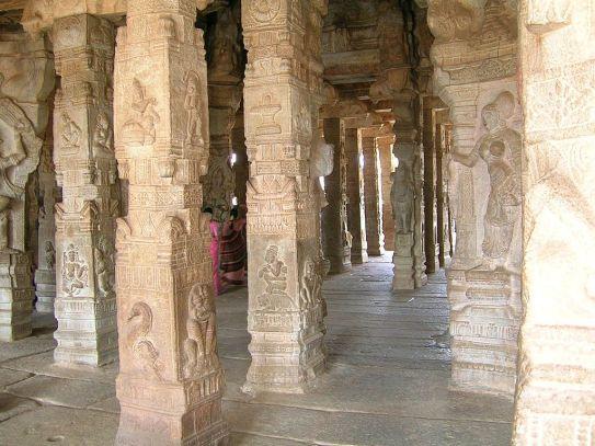 Pillered Hall Lepakshi temple