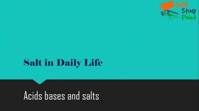 Salt in Daily Life