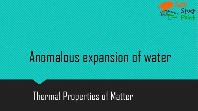 Anomalous expansion of water
