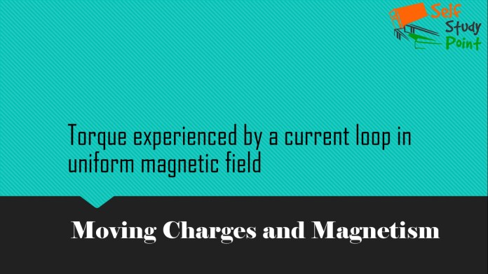 Torque experienced by a current loop in uniform magnetic field