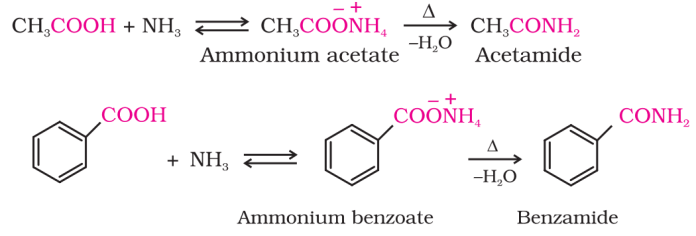 Reaction with ammonia