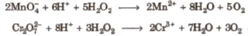 H2O2 as Reducing agent