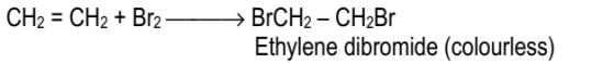 Addition of halogens (Cl2 or Br2)