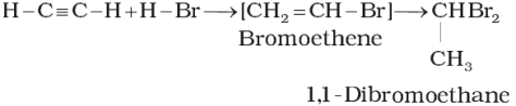 Addition of hydrogen halides
