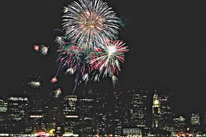 New Year's Eve Fireworks on Boston Harbor
