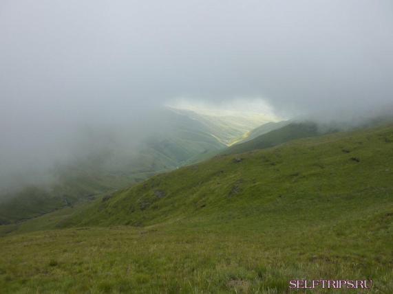 Водопад Тугела в тумане.