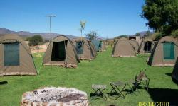Our tents at the camp near Trawal