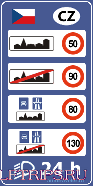 Limit on Czech roads