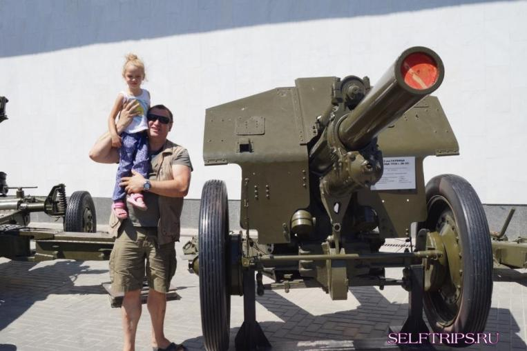 Military equipment outside the Museum