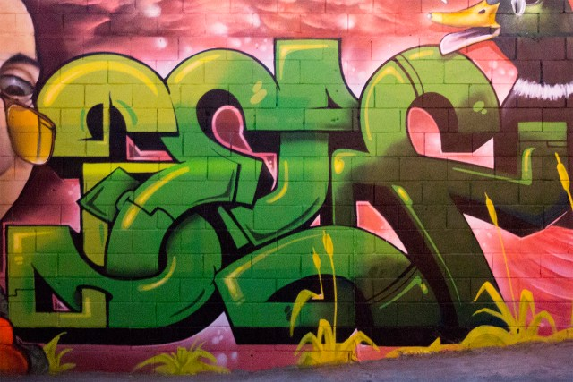 self selfuno graffiti belmont art space piece wall letters connections los angeles downtown dtla september 2014
