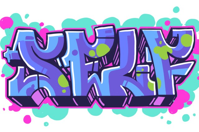 self selfuno graffiti letter piece sketch digital art illustration october 2013