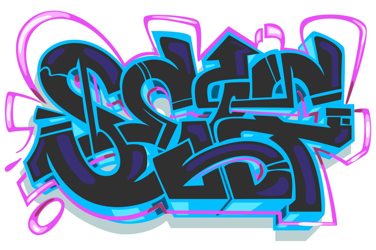 self selfuno graffiti outline piece digital art illustration letters koreatown sketch february 2014