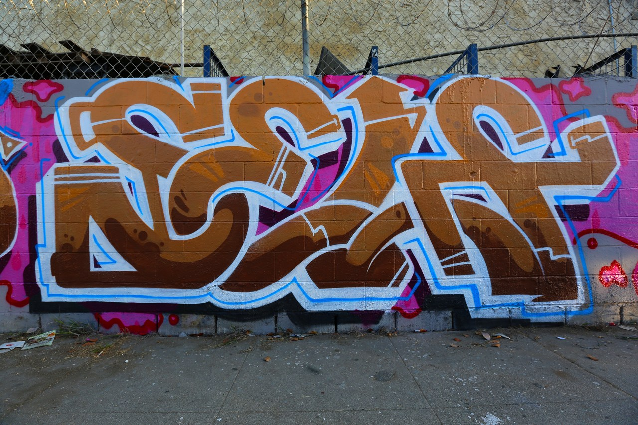 self selfuno graffiti piece letters los angeles south central october 2013