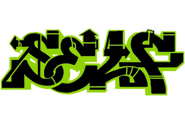 self selfuno graffiti sketch letters digital art illustration piece outline june 2013