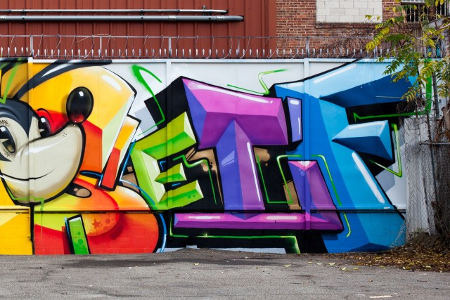 self selfuno graffiti wall piece letters craola dtla container yard downtown los angeles december 2014